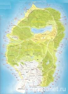 Карта местоположения отрывков писем
