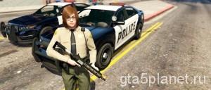 Играть за полицию в GTA 5 / Police Mod