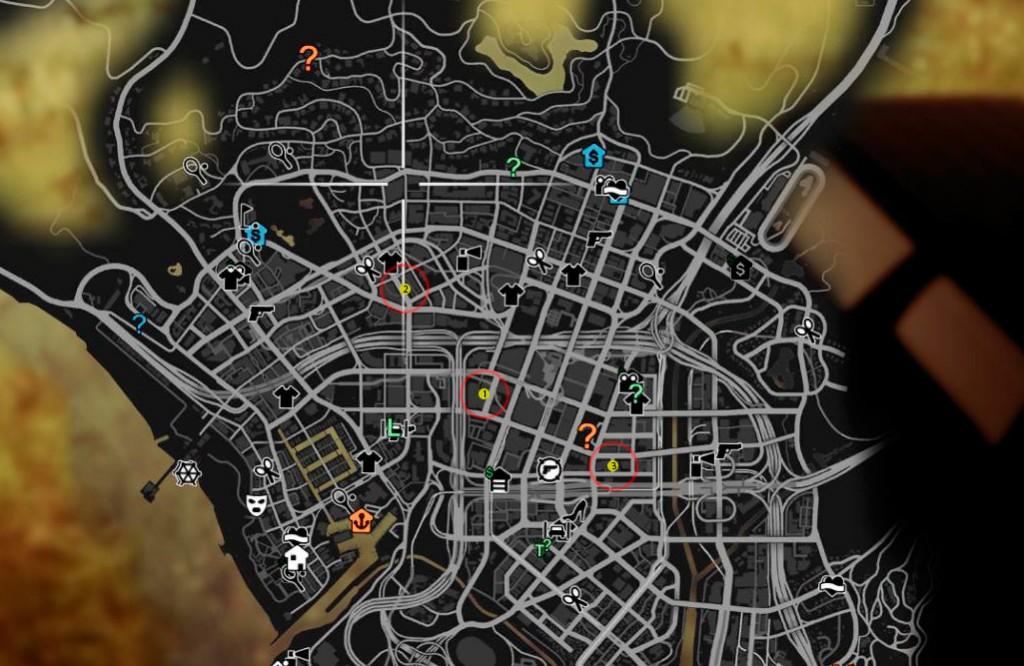 Карта расположения маслкаров в GTA5
